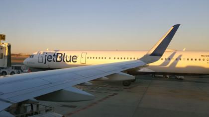 Preparing for take off from JFK International Airport to Las Vegas, NV